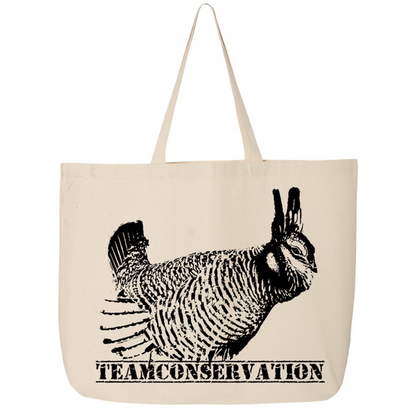 Prairie Chicken Team Conservation - Canvas Bags (2 Sizes) - Animals Anonymous Apparel