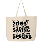 Zoos Saving Species - Canvas Bags (2 Sizes) - Animals Anonymous Apparel