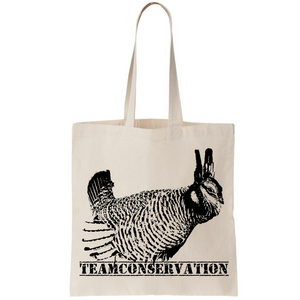 Prairie Chicken Team Conservation - Canvas Bags (2 Sizes)