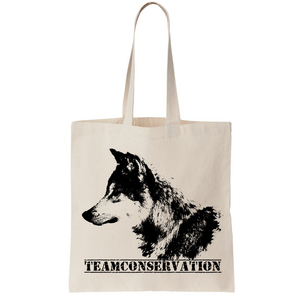 Red Wolf Team Conservation - Canvas Bags (2 Sizes) - Animals Anonymous Apparel