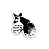 Okapi - Sticker - Animals Anonymous Apparel