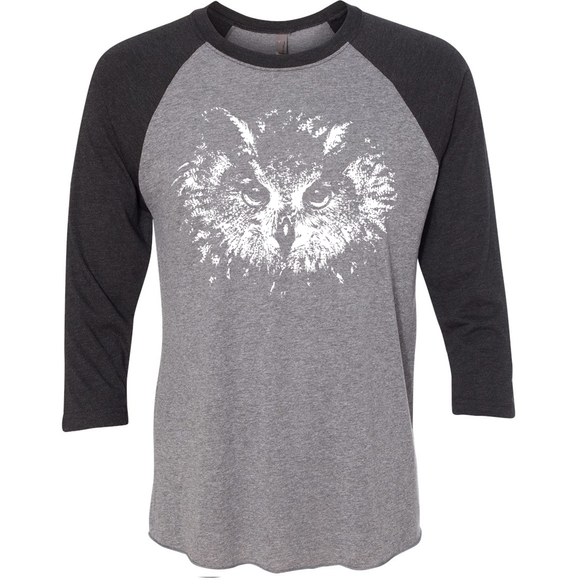 Owl Eyes - Unisex Raglan - Animals Anonymous Apparel