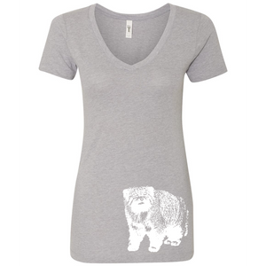 Pallas Cat - Women's V-Neck Tee - Animals Anonymous Apparel