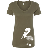 Pelican - Women's V-Neck Tee - Animals Anonymous Apparel