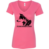 Red Wolf Team Conservation - Women's V-Neck Tee - Animals Anonymous Apparel
