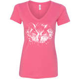 Owl Eyes - Women's V-Neck Tee - Animals Anonymous Apparel