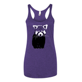 Red Panda (Two Color) - Racerback Tank - Animals Anonymous Apparel