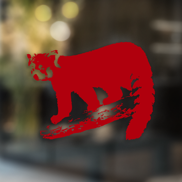 Red Panda on a Branch - Decal - Animals Anonymous Apparel