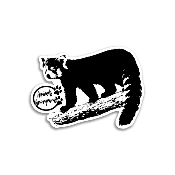 Red Panda on a Branch - Sticker - Animals Anonymous Apparel