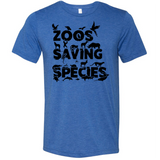Zoos Saving Species - Unisex Tee - Animals Anonymous Apparel