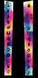 Leggings - Black with Paws and Watercolor Background - Animals Anonymous Apparel