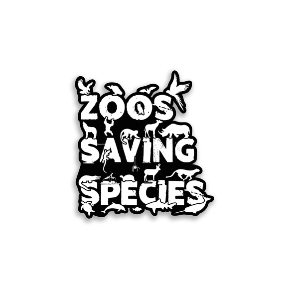 Zoos Saving Species - Sticker - Animals Anonymous Apparel