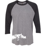 Sumatran Rhino - Unisex Raglan - Animals Anonymous Apparel