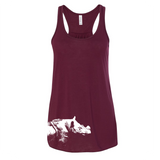 Sumatran Rhino - Flowy Tank - Animals Anonymous Apparel