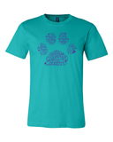 Fundraiser for Alle Foster - Paw Word Cloud Tee (Ends 9.6) - Animals Anonymous Apparel