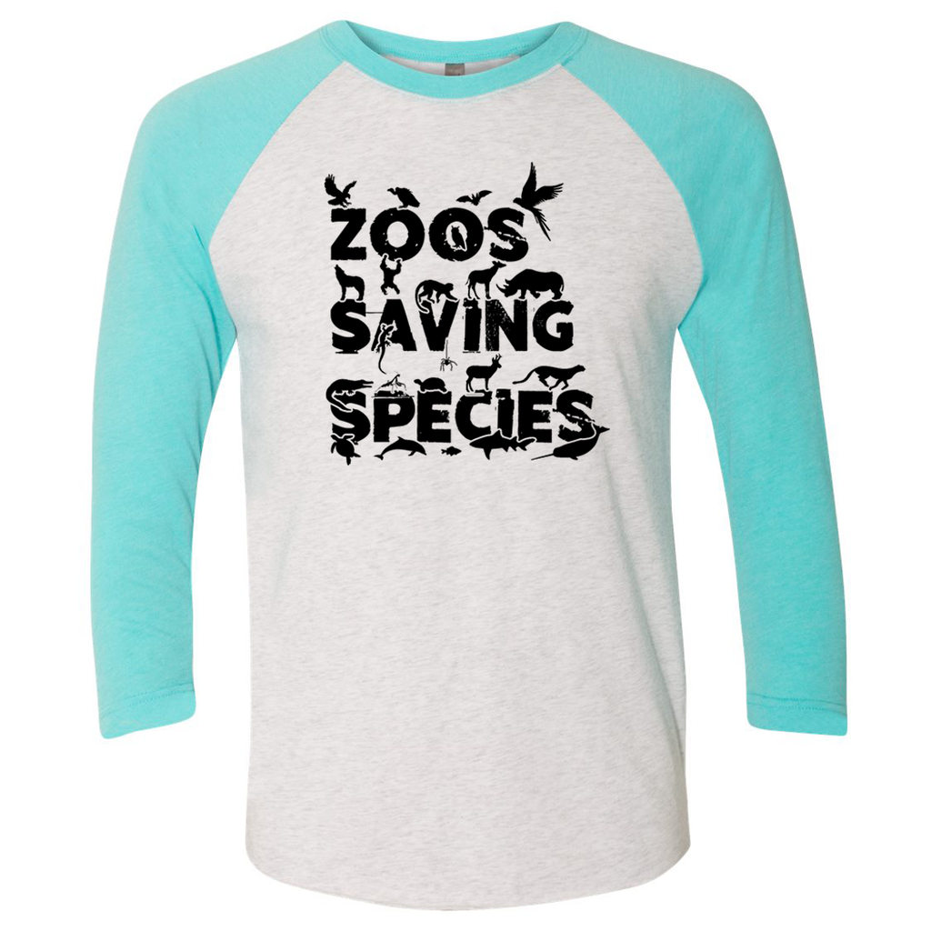 Zoos Saving Species - Unisex Raglan