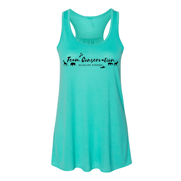Team Conservation Wildlife Strong - Flowy Tank - Animals Anonymous Apparel