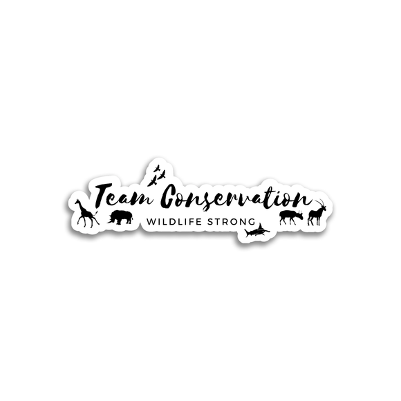 Team Conservation Wildlife Strong - Sticker - Animals Anonymous Apparel