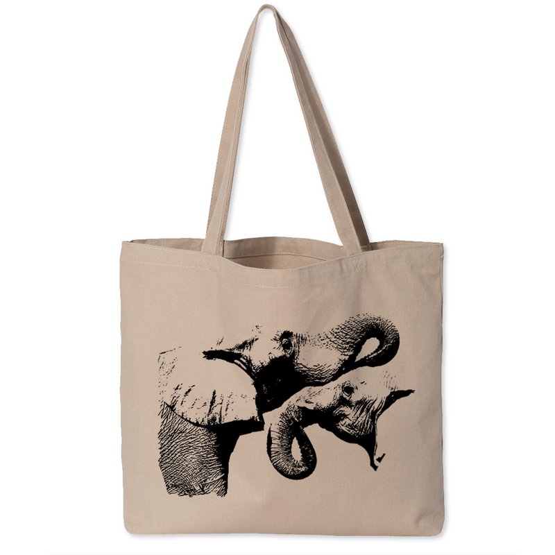 Two Elephants - Canvas Bags (2 Sizes)