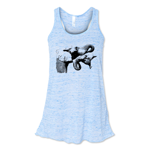 Two Elephants - Flowy Tank - Animals Anonymous Apparel