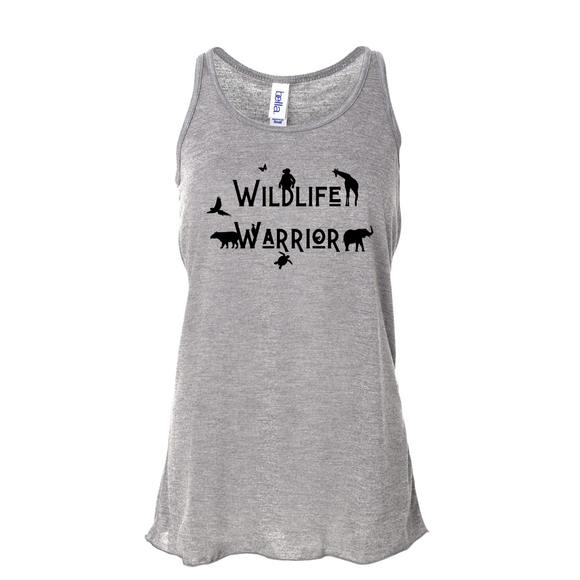 Wildlife Warrior - Flowy Tank - Animals Anonymous Apparel