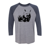 Wombat - Unisex Three-Quarter Sleeve Raglan - Animals Anonymous Apparel