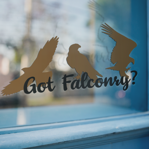 Got Falconry - Vinyl Decal - Animals Anonymous Apparel