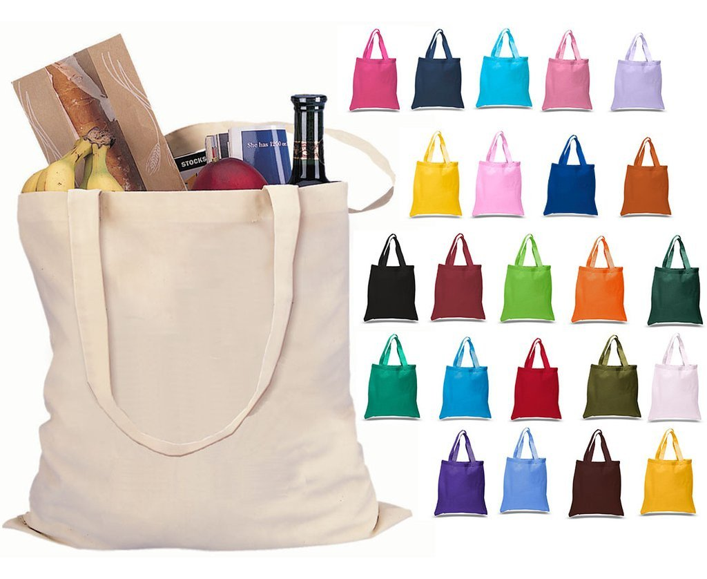Screen Printed Small Canvas Tote - Choose a Print