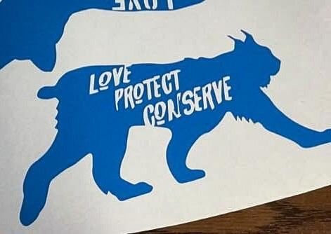 Lynx - Love Protect Conserve - Vinyl Decal