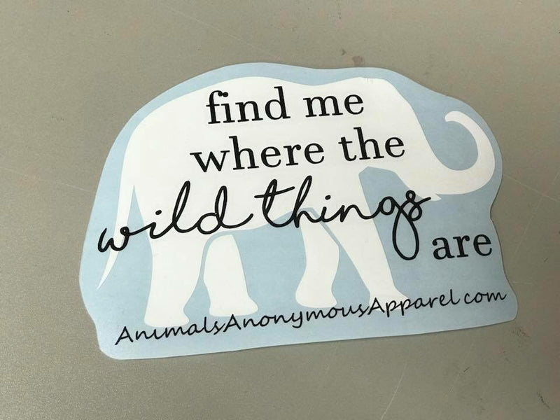 Elephant - Wild Things Vinyl Decal
