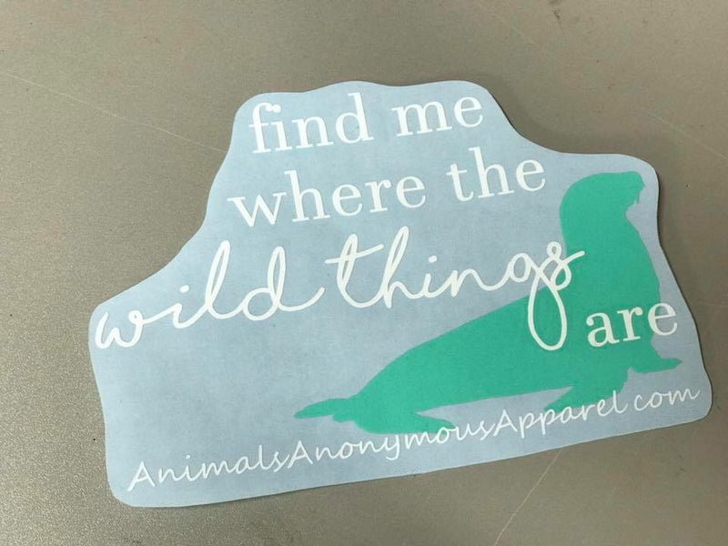 Seal - Wild Things Vinyl Decal