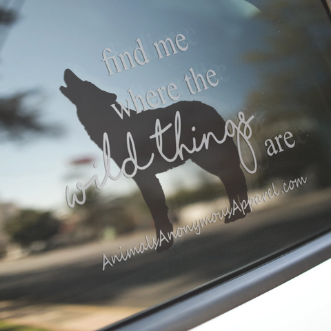Wolf - Wild Things Vinyl Decal - Animals Anonymous Apparel