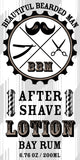 6 - BBM After Shave Lotion wholesale - BEAUTIFUL BEARDED MAN