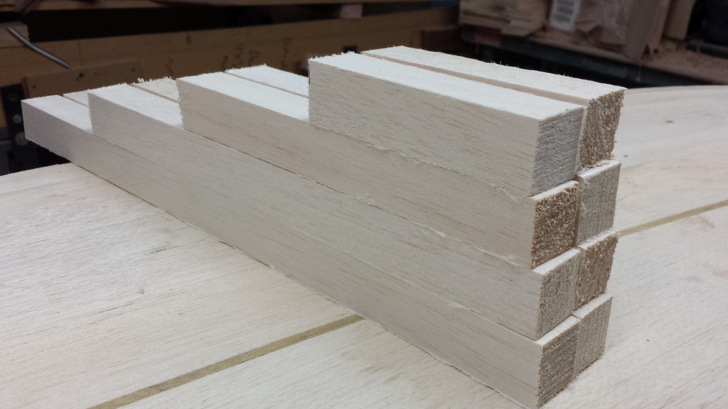 300mm long Raw balsa wood