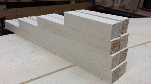 Raw balsa wood