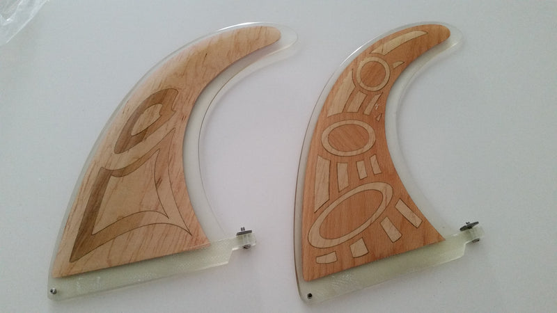 Short Board Timber Fins