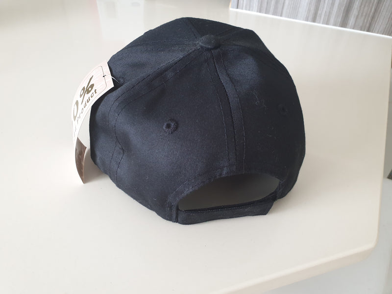 Black Eco Cap or Blue Truckers mesh hat