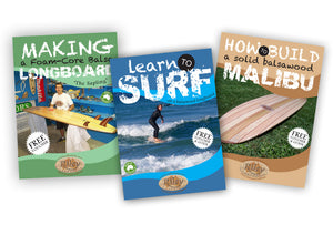 Learn to Surf on a Riley Balsawood Beginners' Longboard