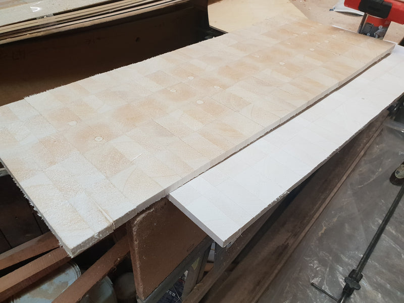 End grain sheet balsa wood - any thickness is possible