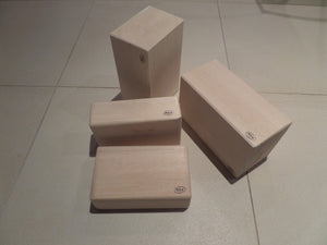 Yoga blocks for Pilates and Yoga in Raw balsa wood