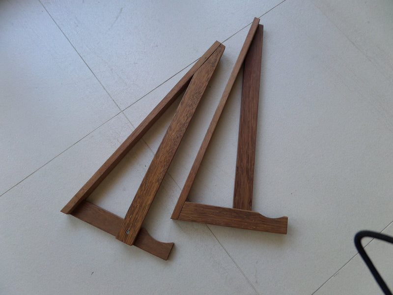 Hand made timber board racks and stands