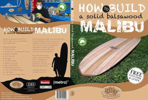 DVD - How to Make a Foam Core Balsawood Surfboard