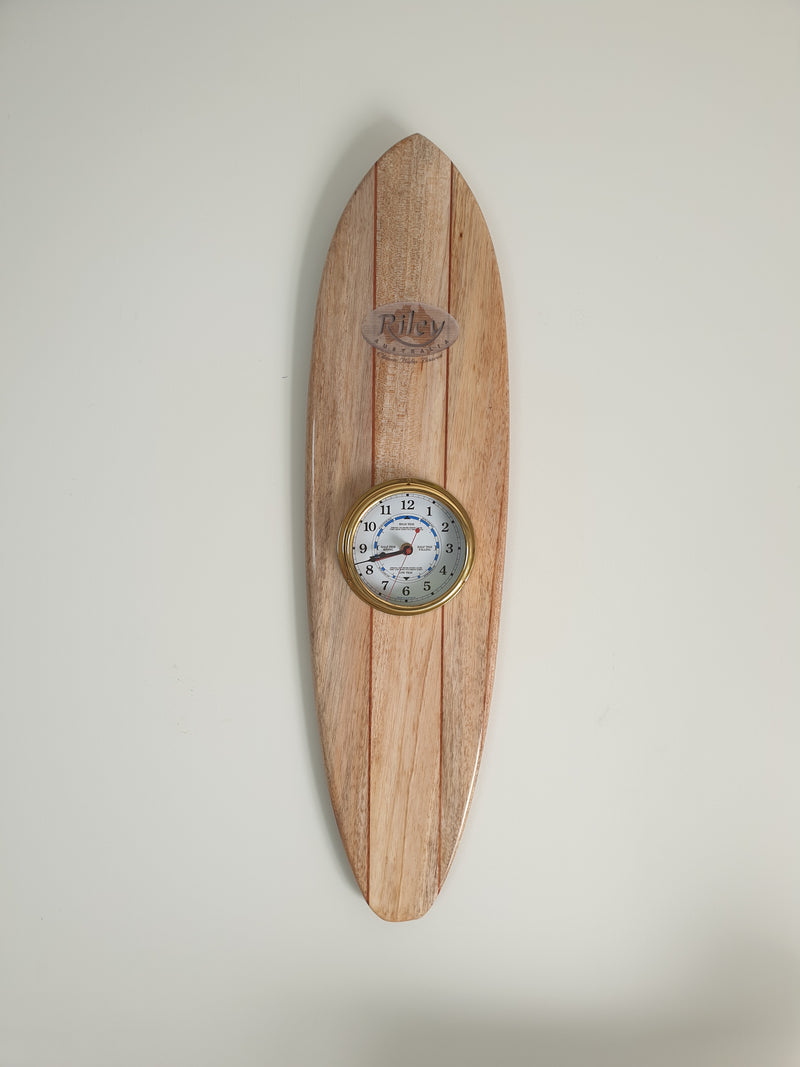 Tide and Time balsa surfboard clock