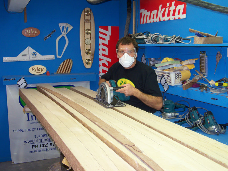 Balsa surfboard shaping sets or kits