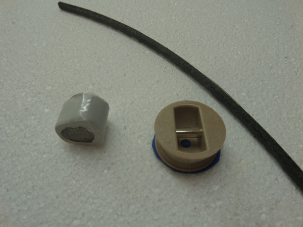 Legrope or leash plug in black or wood colour