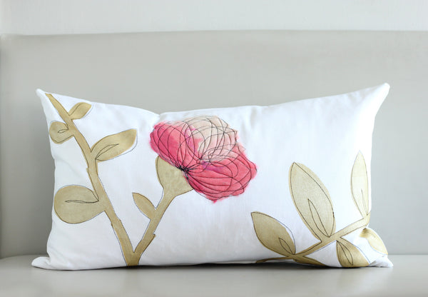 Hot Pink & Gold Pillow