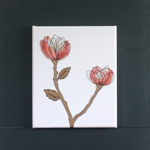 "Blush & Copper Roses 10"" x 12"""