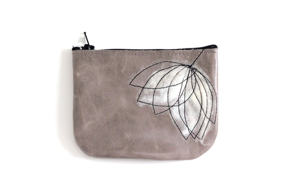 Leather Coin Purse - Ivory