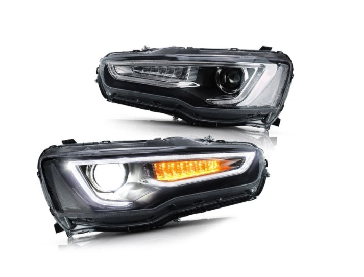 Set Halogenos Lancer 08-17 Tipo Audi Projector Blackout