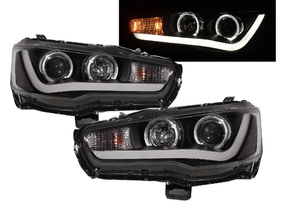 Set Halogenos Lancer 08-17 Doble Projector - Unique Auto Parts & Accessories